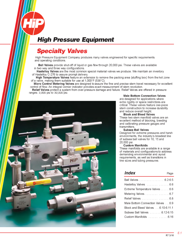 High Pressure 10 000 - 150 000 psi Archives -